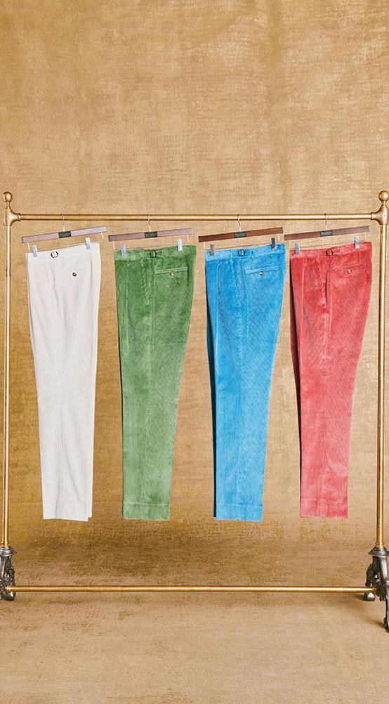 AW21 Single Pleat Corduroy Trousers
