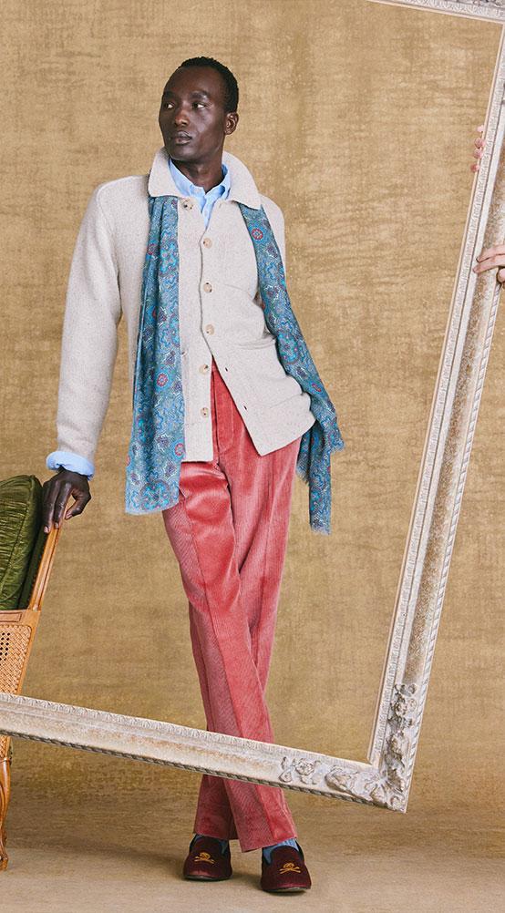 Oatmeal Wool/Cashmere Carpenters Jacket Lifestyle
