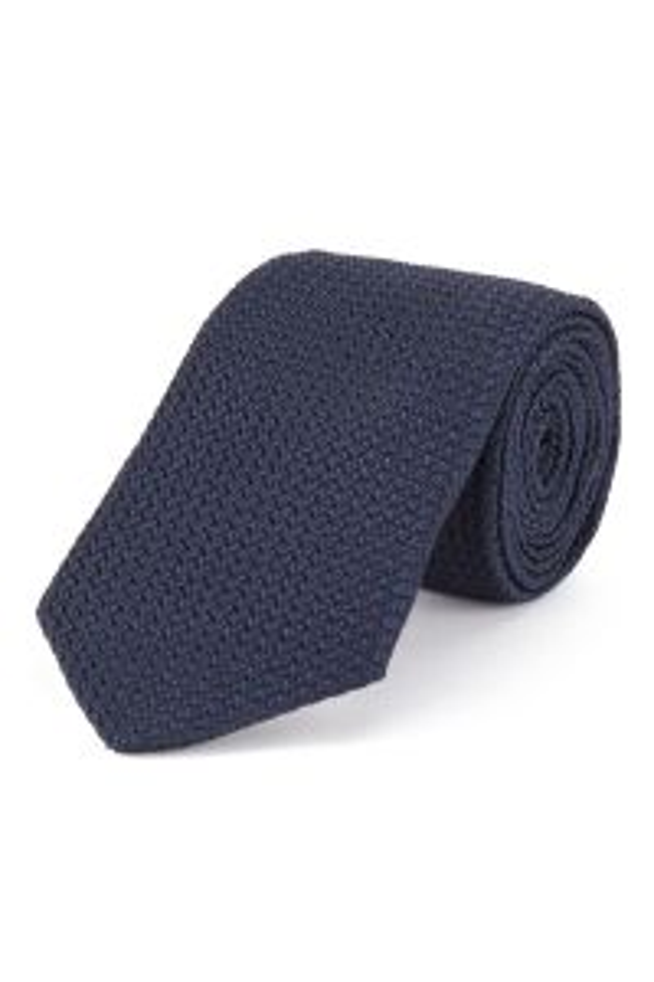 Dark Blue Grenadine Large Weave Tie
