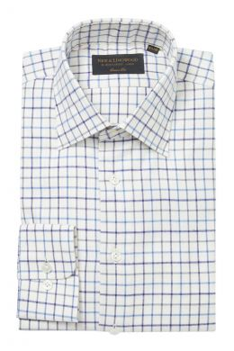 Blue Tattersall Check Soft Collar Classic Fit Flannel Shirt