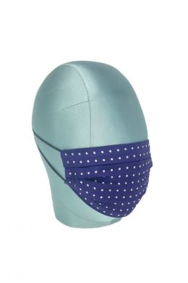 Purple & White Spot Silk Face Mask