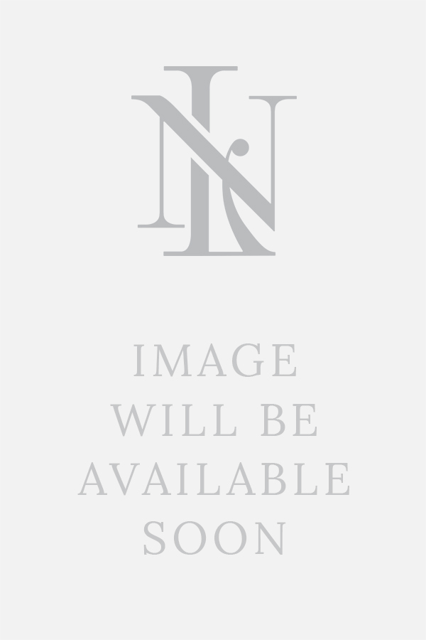 Navy Flame Stitch Knitted Lambswool Scarf