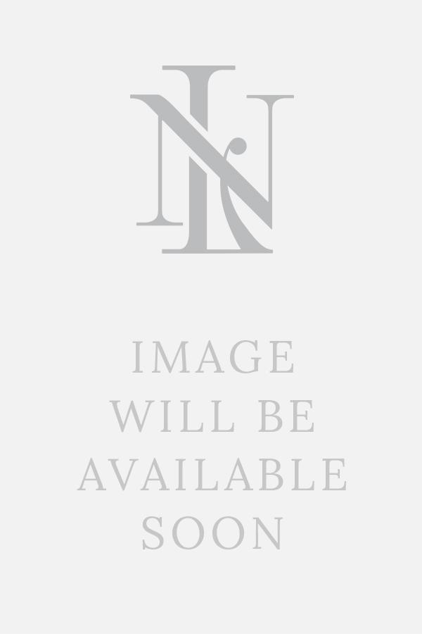 Navy Chalkstripe Wool Flat Cap