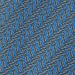 Blue Paperclips Printed Silk Tie